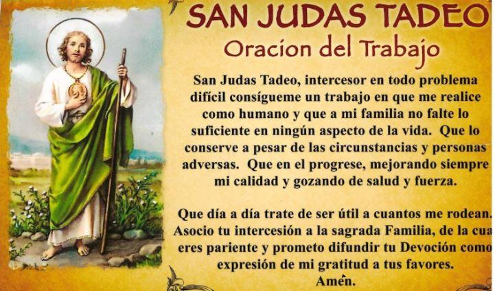 Petición a San Judas Para un puesto de trabajo