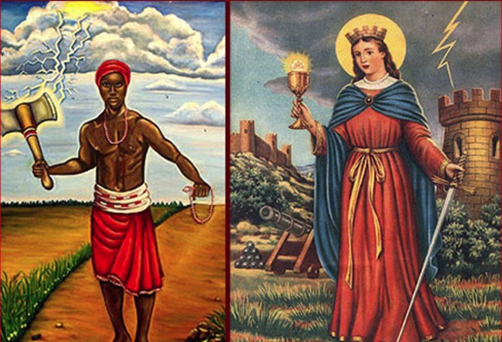 Orisha y su respectivo Santo Católico.