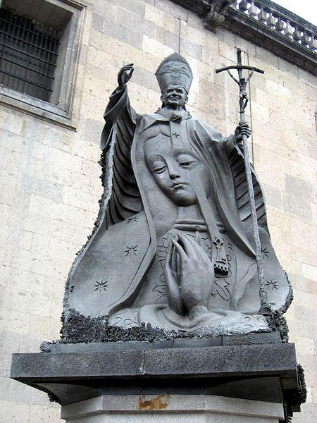 JuanPabloII y Virgen de Guadalupe