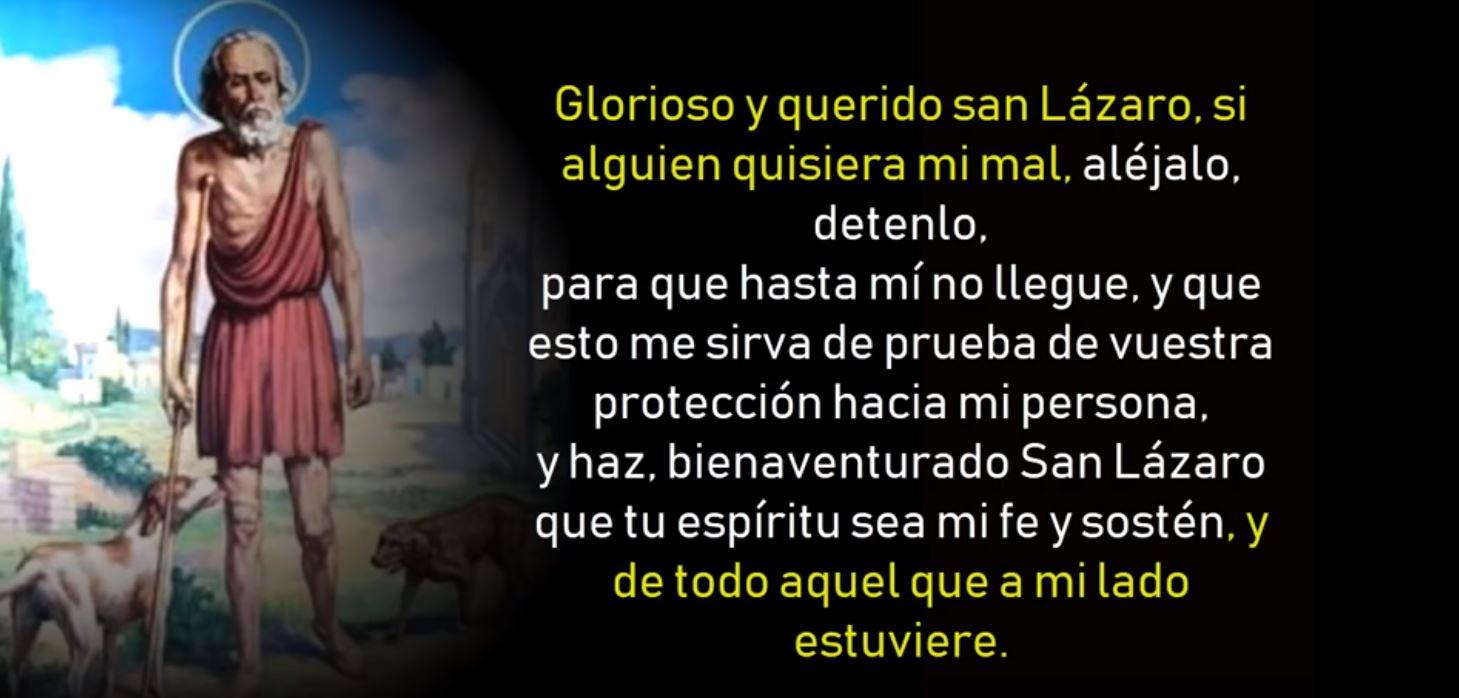 Oraciones a San Lazaro